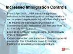 increased immigration controls