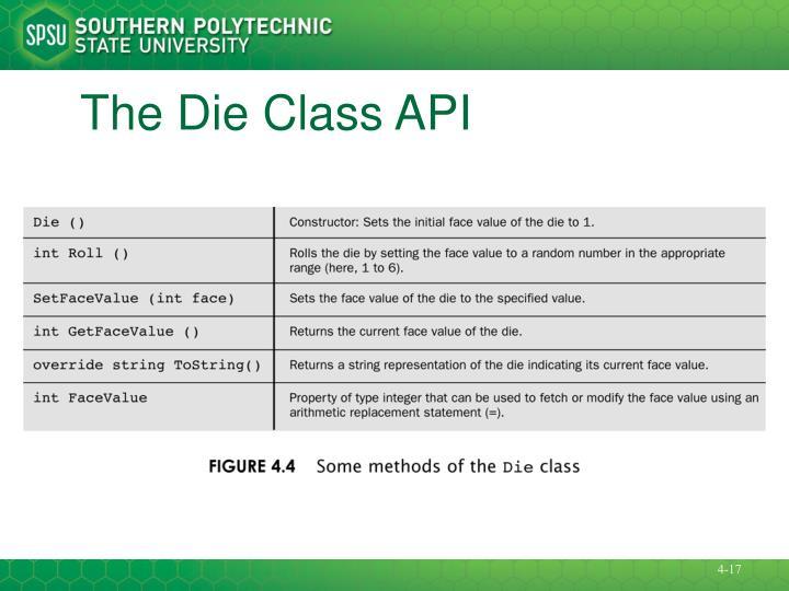 The Die Class API