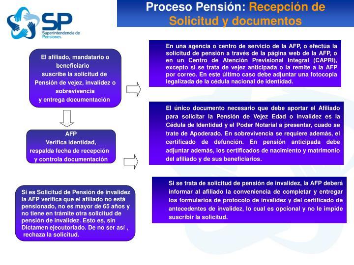 Proceso Pensión: