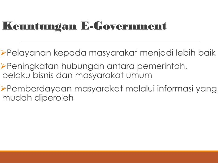 Keuntungan E-Government