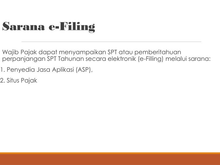 Sarana e-Filing