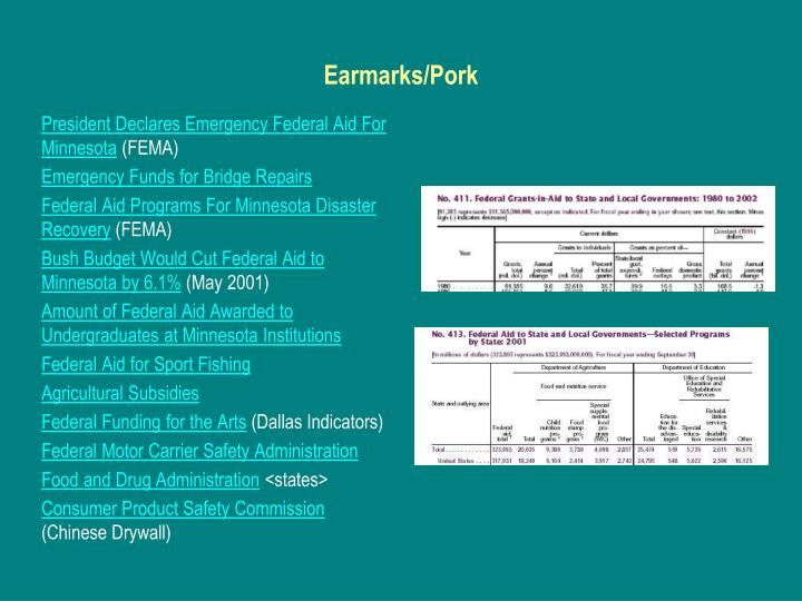 Earmarks/Pork