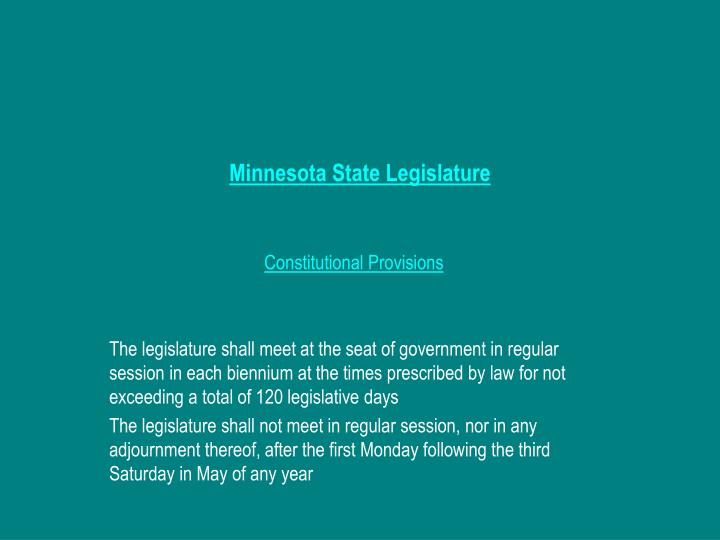 Minnesota State Legislature