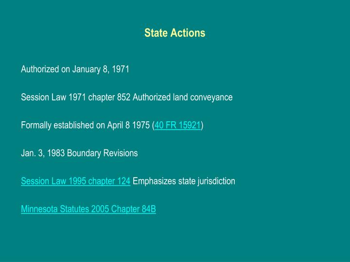State Actions