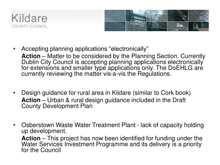 """Accepting planning applications """"electronically"""""""