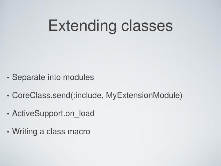 Extending classes