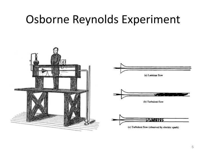 Osborne Reynolds Experiment