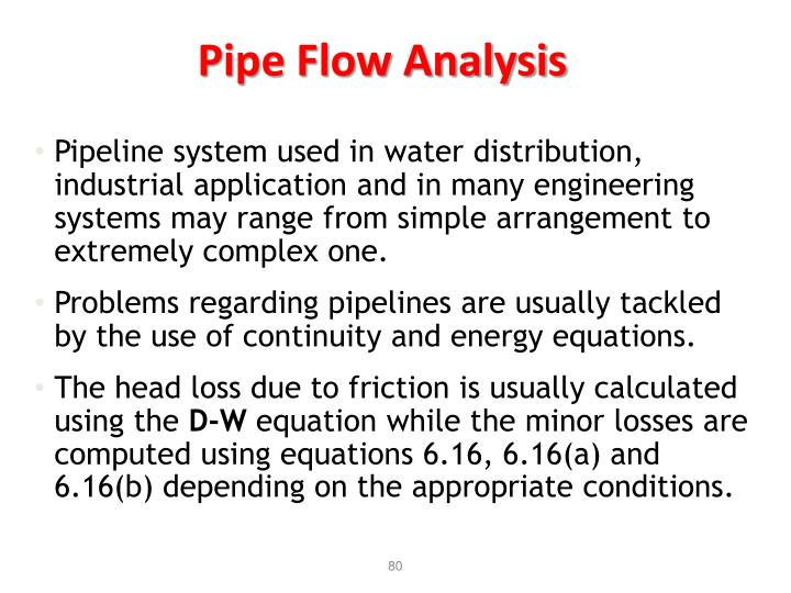 Pipe Flow Analysis