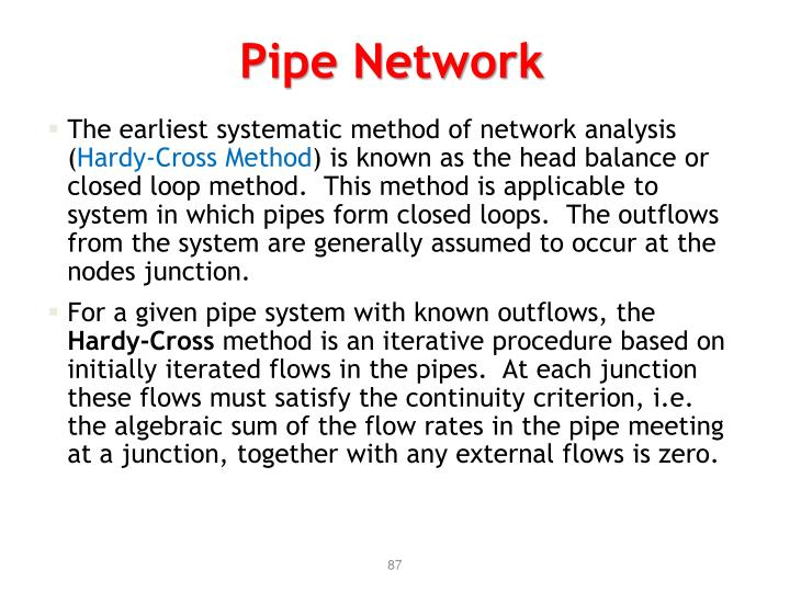 Pipe Network