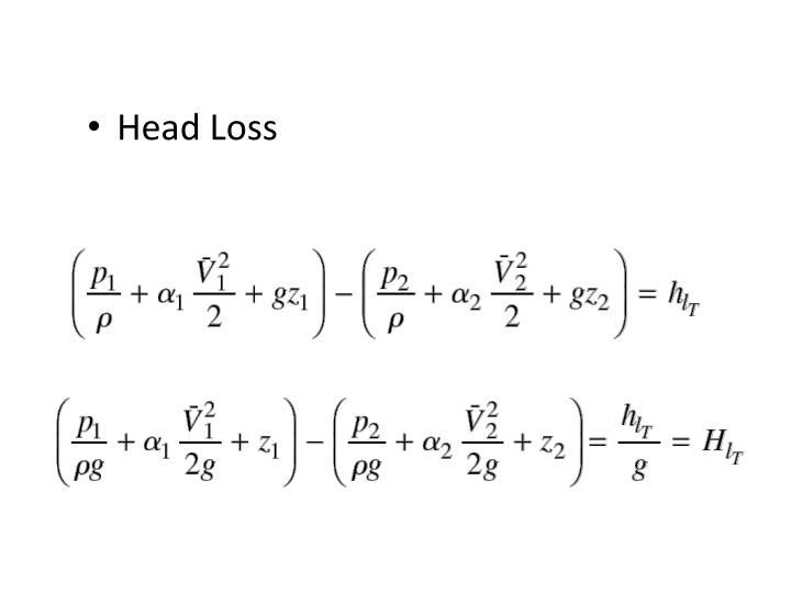 Head Loss