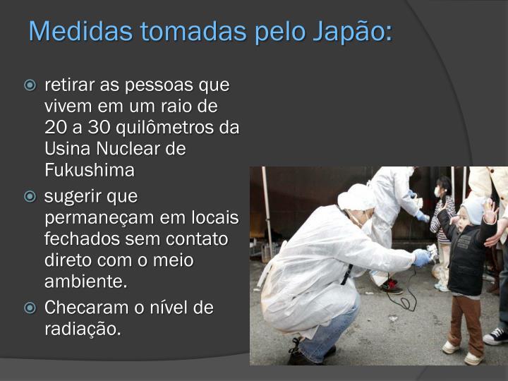 Medidas tomadas pelo Japão:
