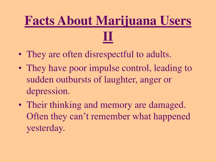 Facts About Marijuana Users II