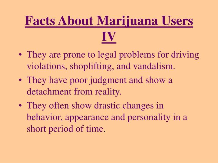 Facts About Marijuana Users IV