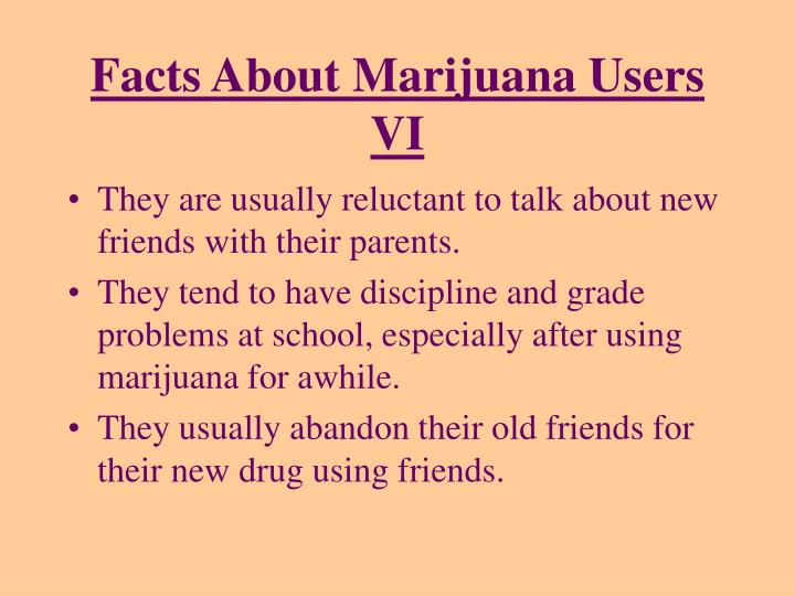 Facts About Marijuana Users VI
