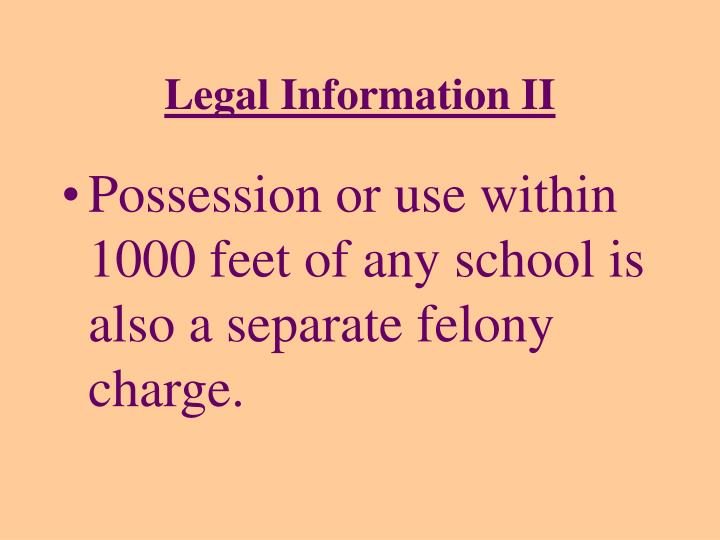 Legal Information II