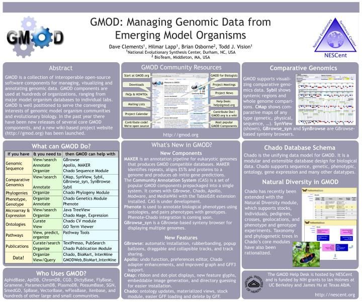 GMOD: Managing Genomic Data from