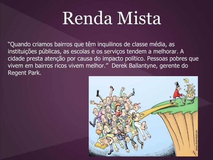 Renda Mista
