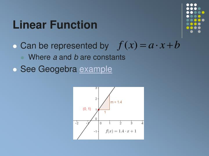 Linear function