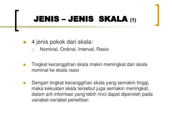 JENIS – JENIS  SKALA