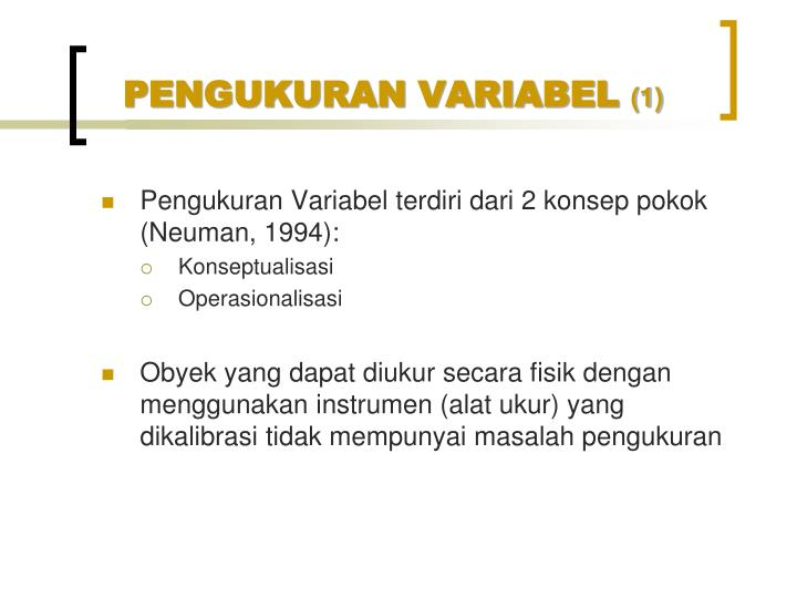 Pengukuran variabel 1