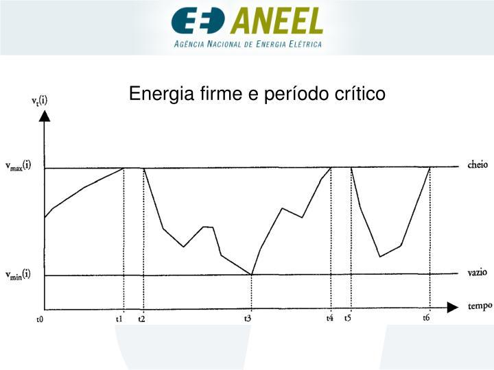 Energia firme e período crítico