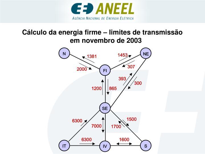 Cálculo da energia firme