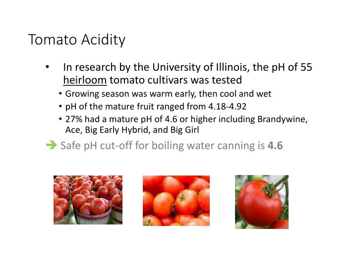 Tomato Acidity