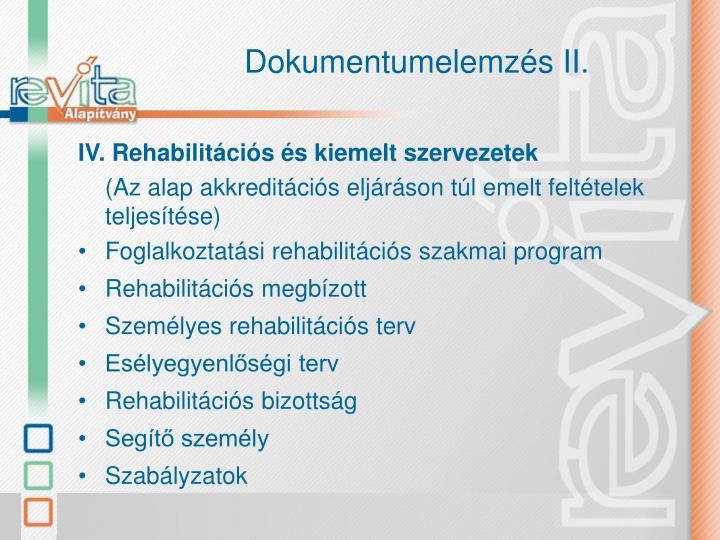 Dokumentumelemzés II.