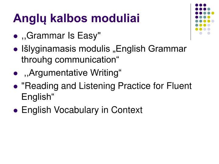 Anglų kalbos moduliai