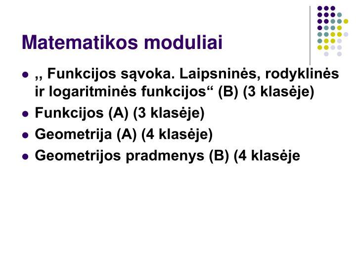 Matematikos moduliai