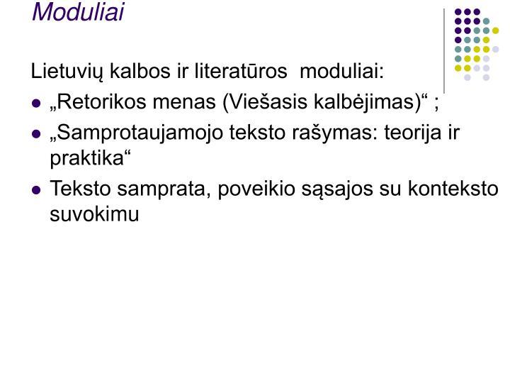 Moduliai