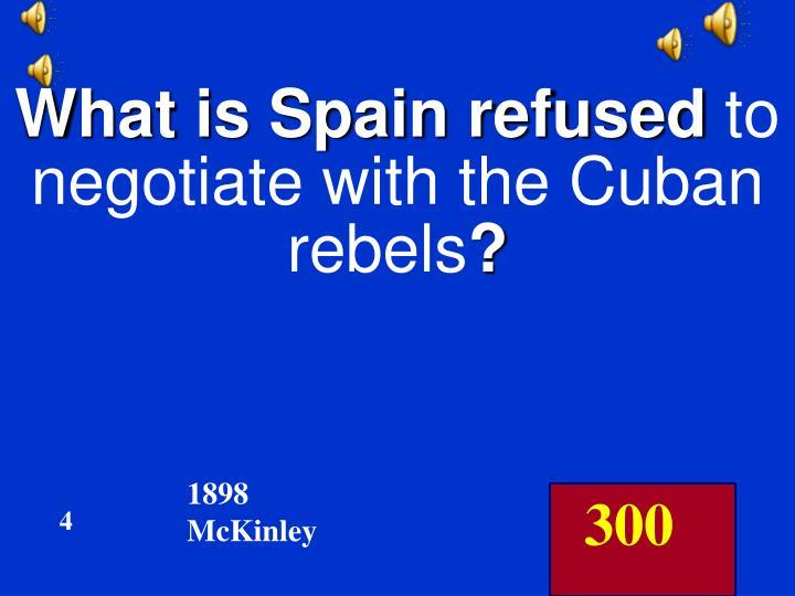 What is Spain refused