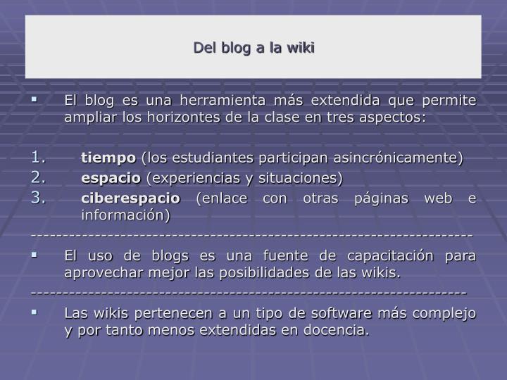 Del blog a la wiki
