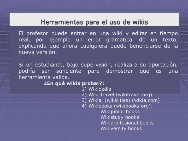 Herramientas para el uso de wikis