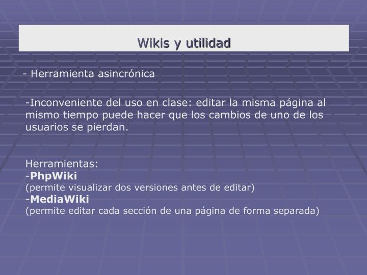 Wikis y utilidad