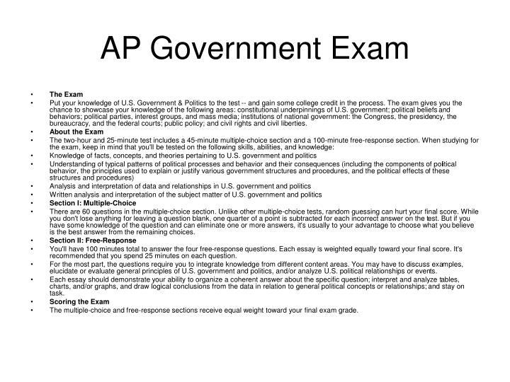 AP Government Exam