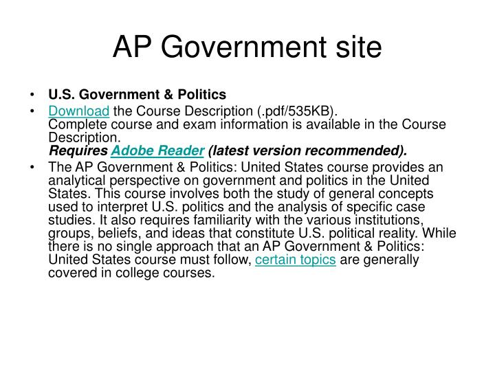 AP Government site