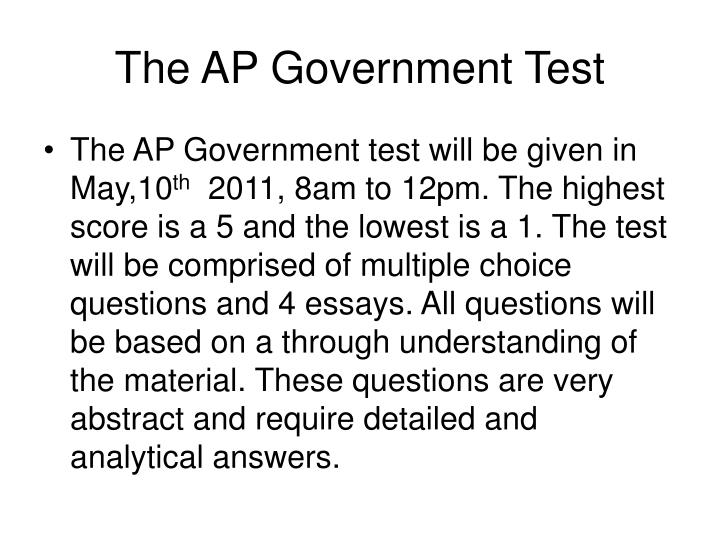 The AP Government Test
