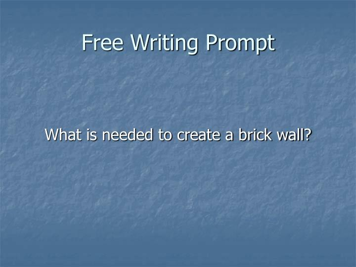 Free Writing Prompt