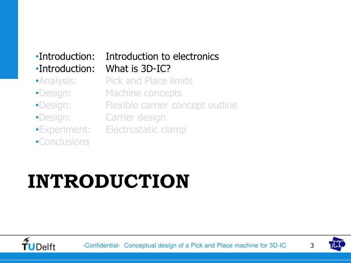 Introduction:Introduction to electronics