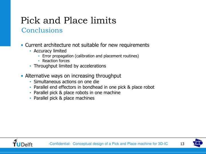 Pick and Place limits