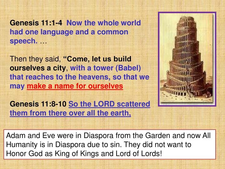 Genesis 11:1-4