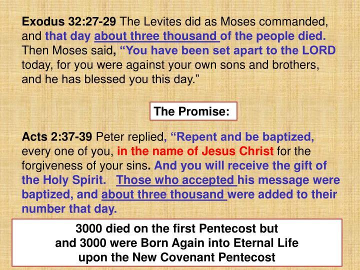 Exodus 32:27-29