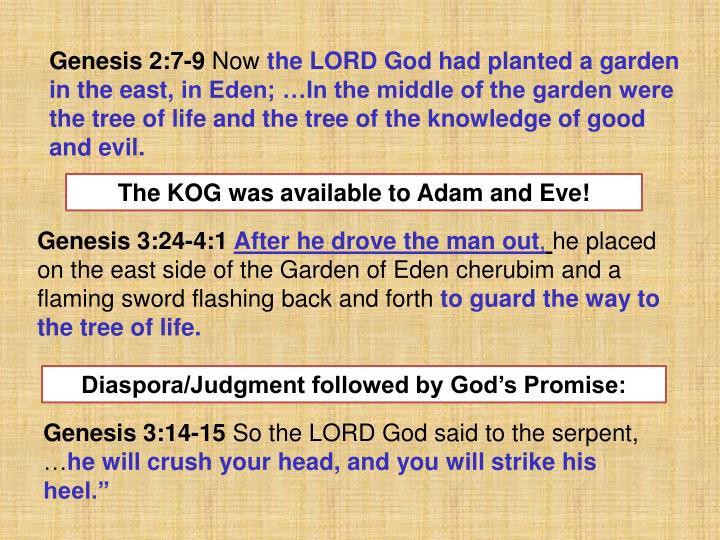 Genesis 2:7-9