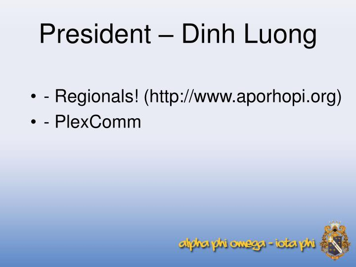 President – Dinh Luong