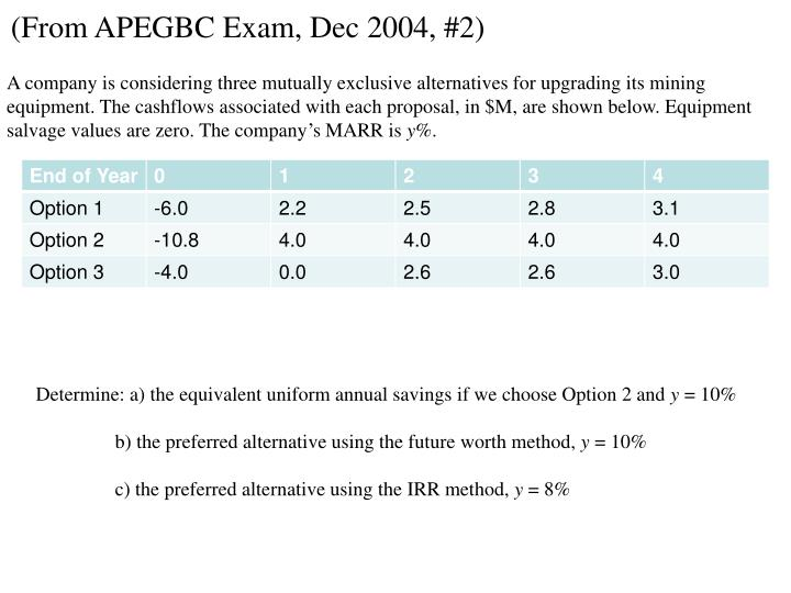 (From APEGBC Exam, Dec 2004, #2)