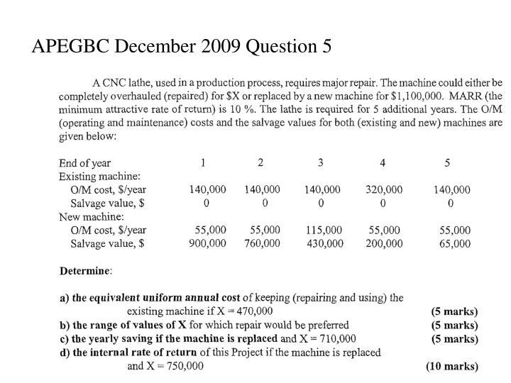 APEGBC December 2009 Question 5