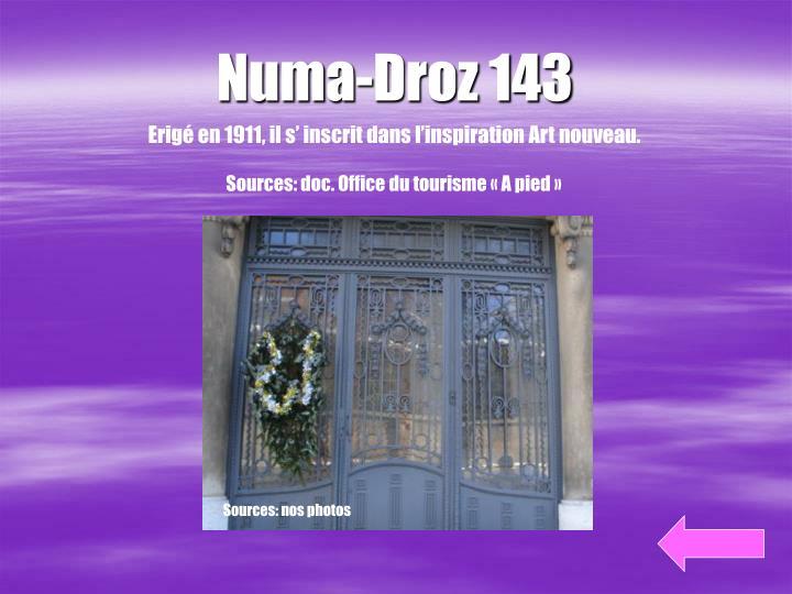 Numa-Droz 143