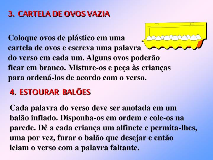 3.  CARTELA DE OVOS VAZIA