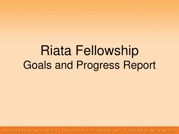 Riata Fellowship